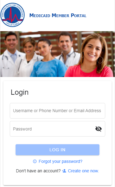 Mobile Login Screenshot
